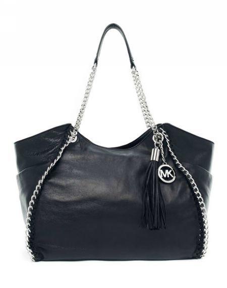<3 <3 <3 MICHAEL Michael Kors Chelsea Large Shoulder Tote Black Leather <3 <3 <3