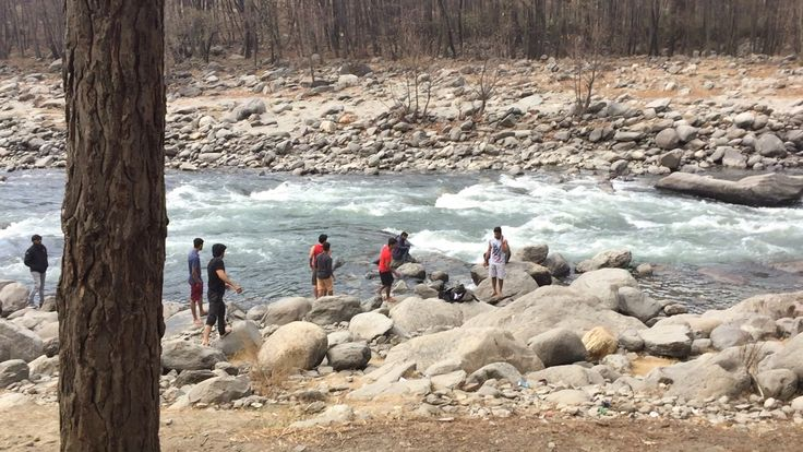 River Beas, College Industrial Visit, River rafting at Babeli near Manali, Himachal Pradesh,
