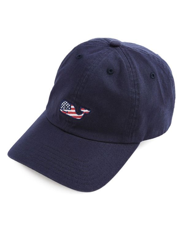killer whale baseball cap vineyard vines flag