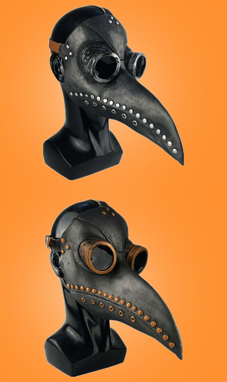 Plague Doctor Mask Halloween Costume Bird Long Nose Beak ...