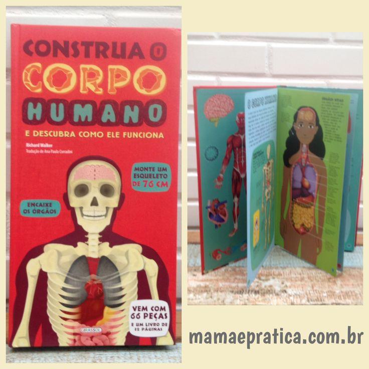 Dica de livro interativo para as crianças que estão na fase de aprender sobre o corpo humano e que são muito curiosas. O livro vem com um modelo de esqueleto para montar e mapear os órgãos  #filhos #aprendizado #livros #leitura #maternidade #ficaadica #chegouporaqui #girassolbrasil