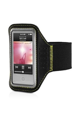 18 Fitness Gadgets To Get In Shape #refinery29  http://www.refinery29.com/53644#slide-6  Griffin Trainer Sport Armband  There's nothing more distracting than your iPod flopping around all over the place during marathon training. To keep it in check, strap on the Griffin Trainer Sport Armband and stay focused on the energizing beats.  Griffin Trainer Sport Armband, $19.95, available at Apple.
