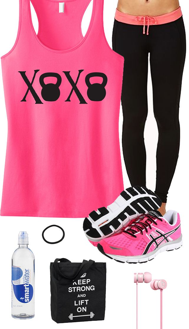 You Work Hard to Look Good, Your #Workout Clothes should Look Great too! Cool Pink Kettlebell #GymGear Board featuring a XOXO Kettlebell Racerback Tank Top by #NobullWomanApparel, $24.99 on Etsy. Click here to buy https://www.etsy.com/listing/179570933/xoxo-kettlebell-tank-top-workout-clothes?ref=shop_home_active_11