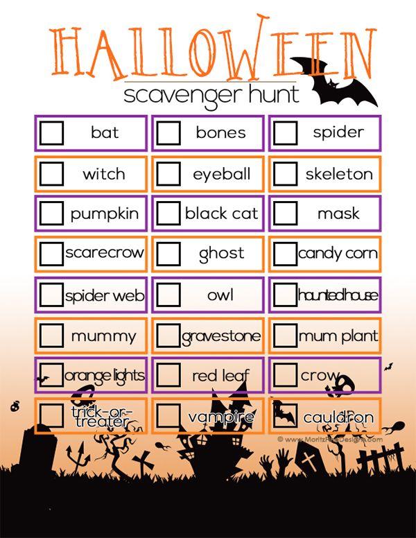 Best 25+ Halloween scavenger hunt ideas on Pinterest ...