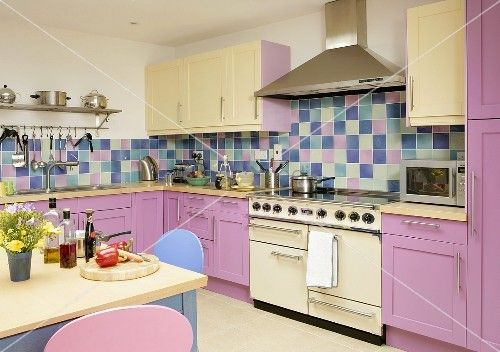 , Kitchens Backsplash, House, Modern Kitchens, Multicoloured Pastel