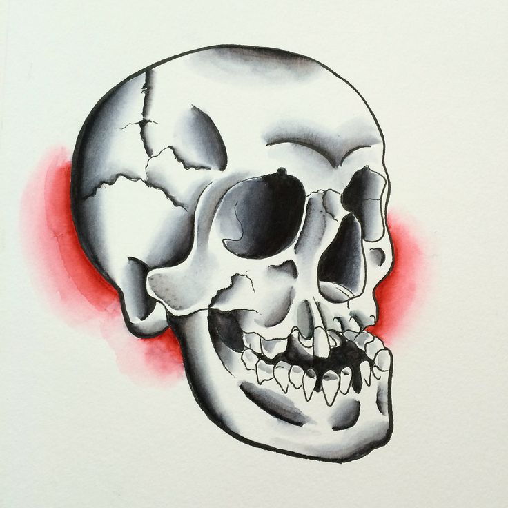Traditional Flash Skull Tattoos: 54 Best Images About Skulls On Pinterest