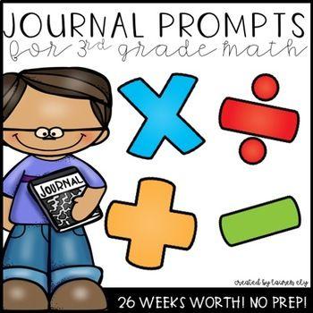 26 Weeks Of 3rd Grade Daily Math Journal Prompts Math Journal