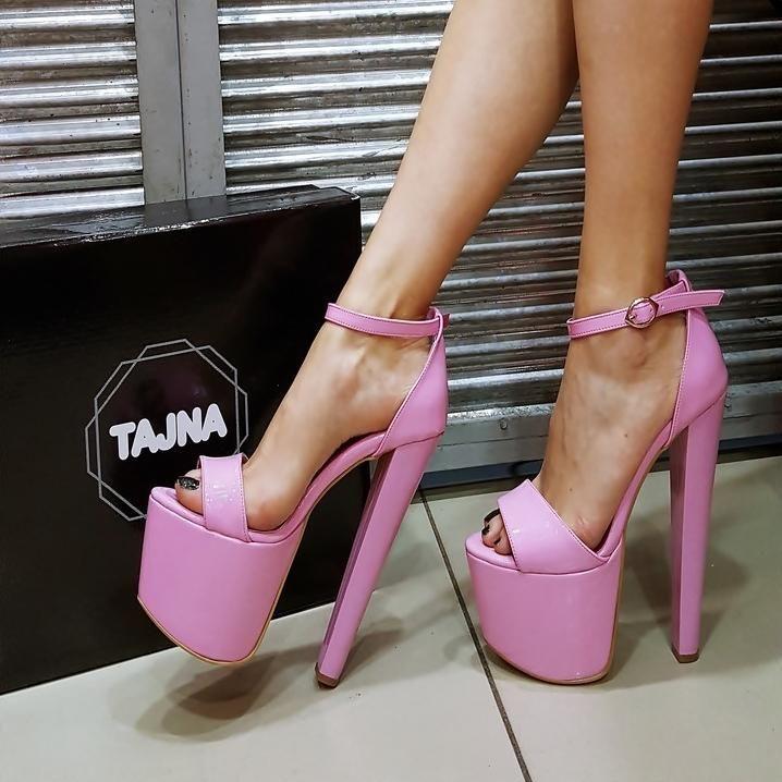 China Party Red Womens 15.5cm High Heel Platform Patent