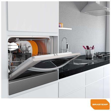 Lava Louça de Embutir com 6 Serviços Built In Brastemp com Painel Digital Touch Inox - BLB06 a partir de Fast Shop