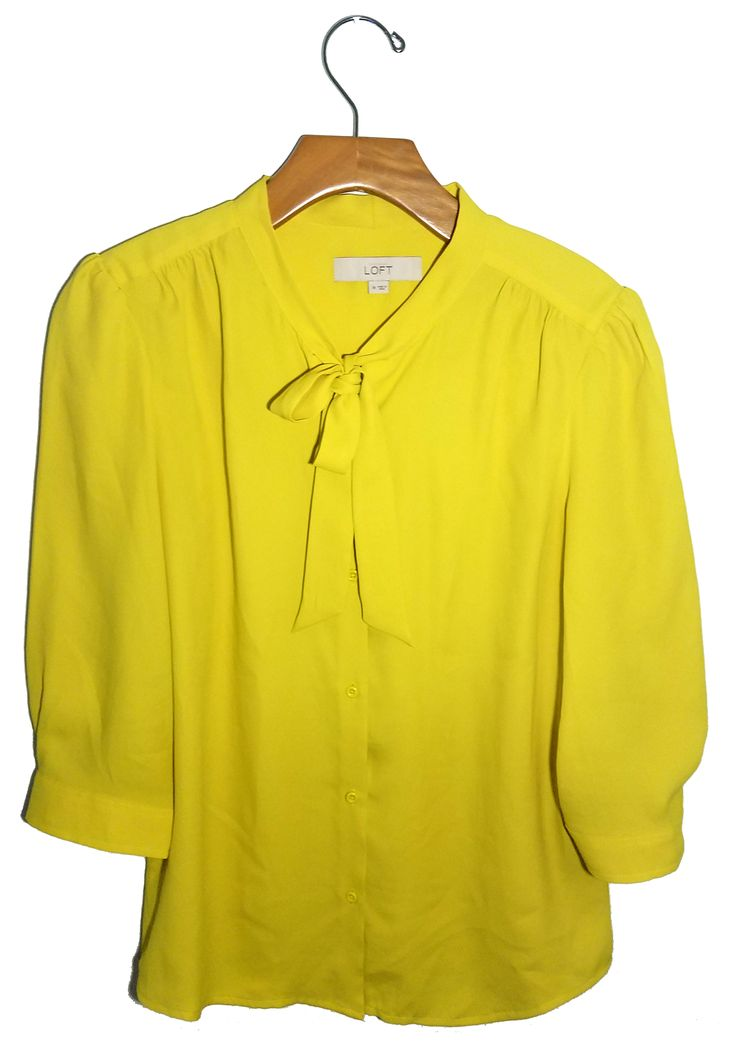 Ann Taylor Loft Yellow Blouse