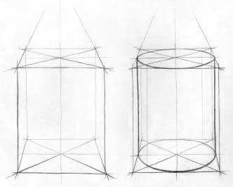 Рисунок для дизайнеров 1 курса (Часть 1. Учебно-методическое пособие): Лабораторная работа 2. Зарисовки геометрических тел »
