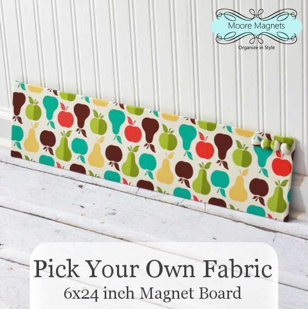 6 inch x 24 inch magnet board u2013 pick your own fabric