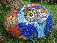 mosaicsOwls Mosaics, Beautiful Animal, Mosaics Rocks, Mosaics Stones, Mosaics Gardens, Rocks Mosaics, Owls Rocks, Gardens Mosaics, Night Gardens