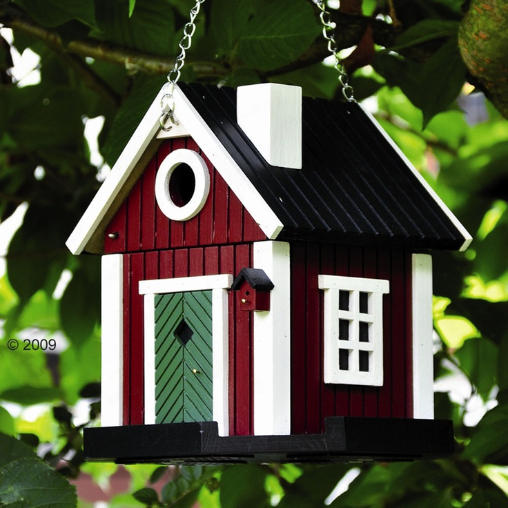 Scandinavian cottage Bird house