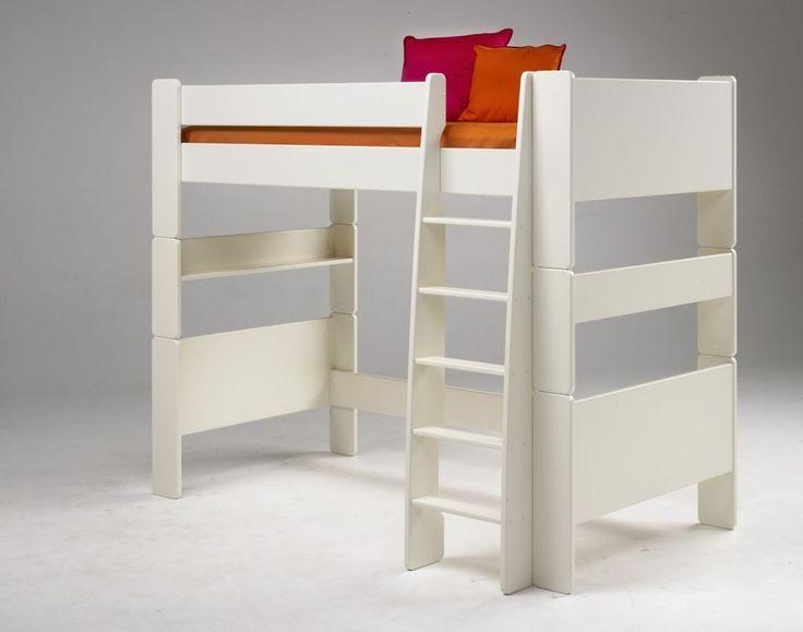 Superb Hochbett Kinderbett MDF wei lackiert Kinderzimmer mit Leiter Jugendbett