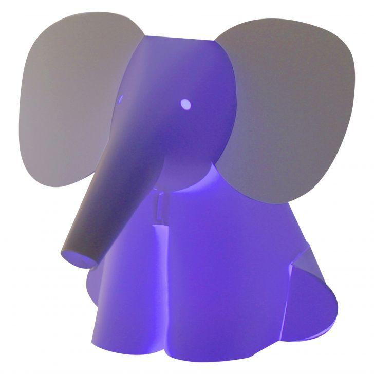 Lampada mini con luce a LED da comodino a forma di elefante. Cambia colore della luce battendo le mani!  <strong>Spese di spedizione</strong>: incluse nel prezzo!