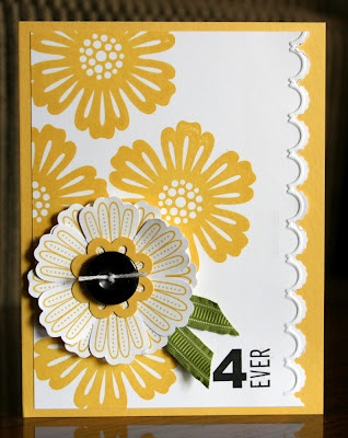 Stampin' Up! Mixed Bunch punch and stamps - I really, really want these...drooling a bit and I love this card.
