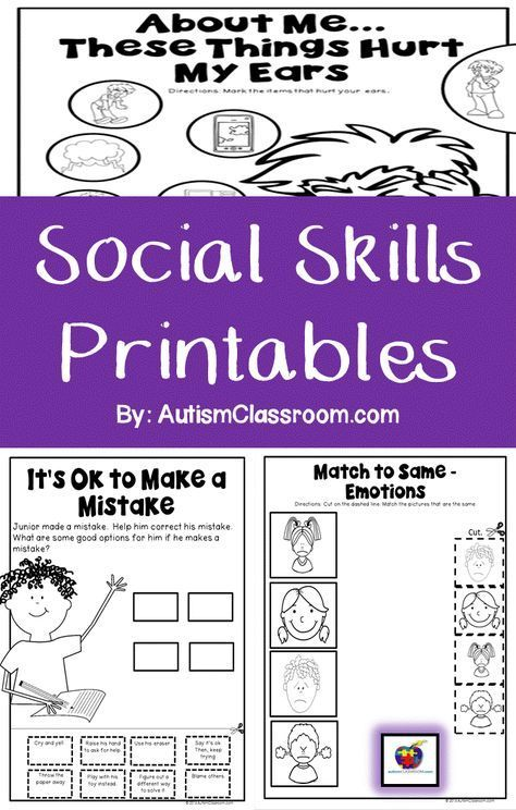 Social Abilities Printables for College students with Autism & Comparable Particular Wants