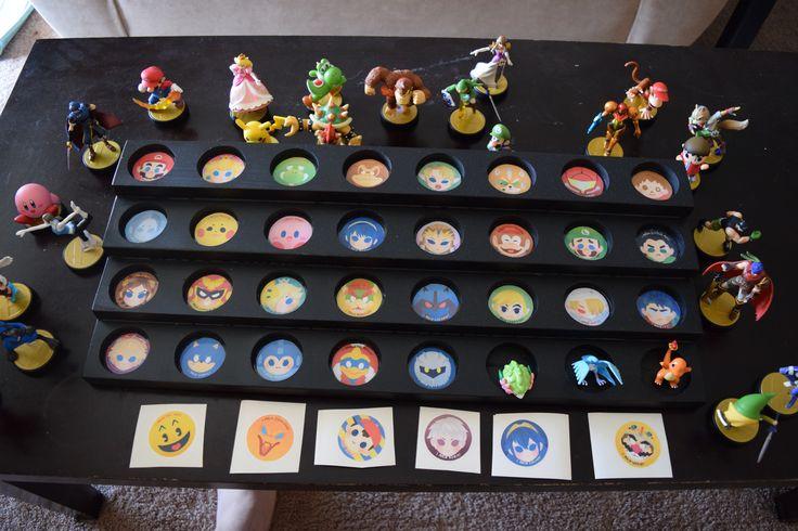 Amiibo Display Stand Amiibo Display Video Game Rooms Geek Room