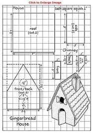 Resultado de imagen para molde de casa de jengibre
