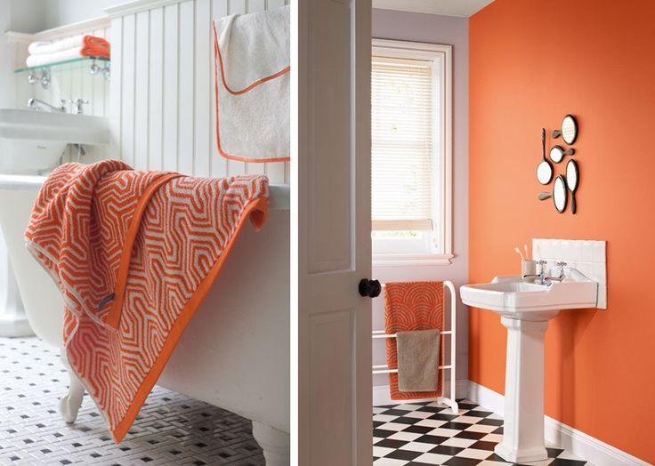 Salle De Bain Orange Et Noir. Top Salle De Bains Gris Argent Actuel ...