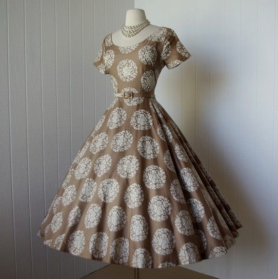 1950's Elaine Terry dress