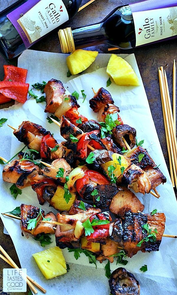 Grilled Honey Chicken Kabobs recipe is a sweet and smoky mix of chicken and fresh vegetables marinated in a simple, yet flavorful, soy sauce and honey mixture all together on a handy stick! Perfect for a picnic!