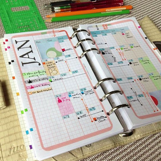 Planner Calendar Refills : Printable personal refills inserts in set filofax