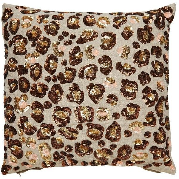 kate spade sequin leopard pillow 139 liked on polyvore featuring home home