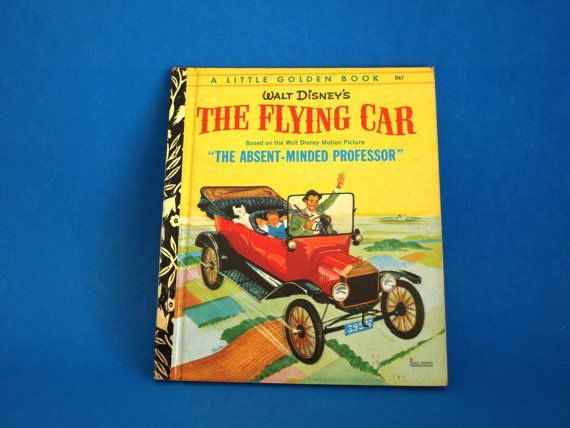 Walt Disney The Flying Car Story Book  Little Golden by FunkyKoala