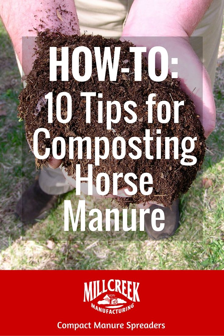 HOW-TO: 10 Tips for Composting Horse Manure  #compost