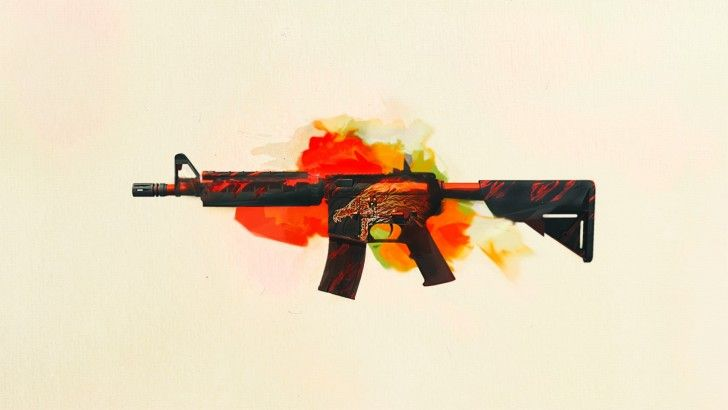 Download M4A4 Howl CS GO Wallpaper 1920x1080