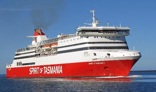 Spirit of Tasmania passenger ferry from Melbourne (in Victoria) to Devonport.  Article by Roger Findlay.