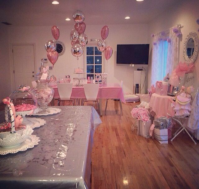 pink and silver baby shower alessandra pinterest