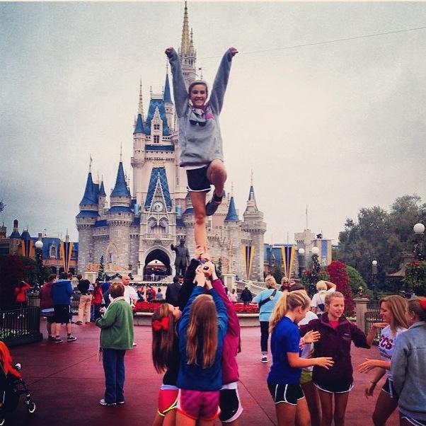 Stunting in Disney word #cheerleading #disney