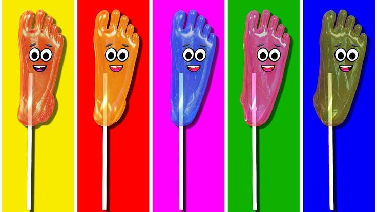 Finger Family Collection - Finger Family Foot Lollipop Candy Family - Finger Family Songs