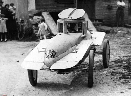 The submarine car of French inventor Michel Andre, 1937  He successfully tested the car in Grand Vedel Lake at Lons le Saunier in the East of France.
