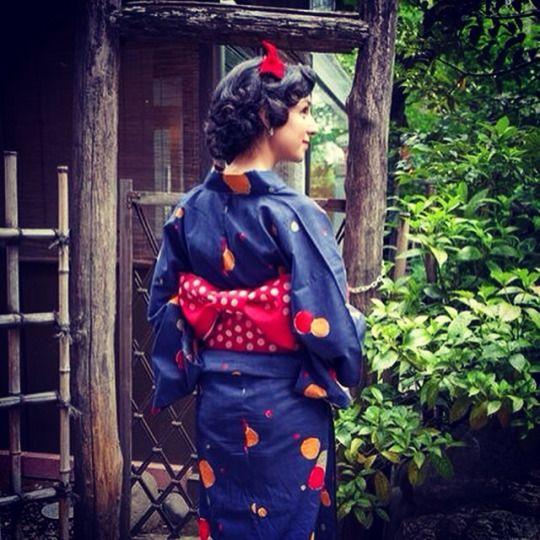 Takehisa Yumeji x Uniqlo yukata. For a Taisho Roman day!