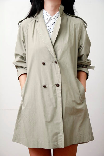 Vintage Pea Coat Trench Mac Princess Dress by OutOfAStrobeVintage