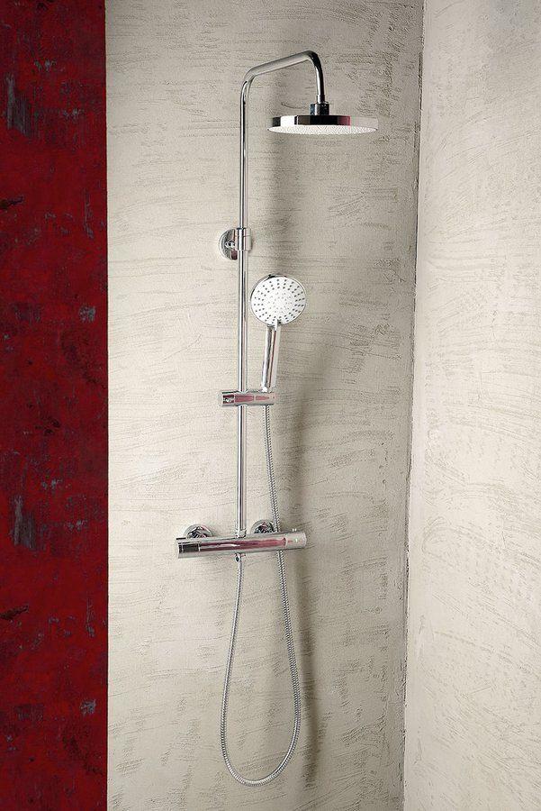 LIGA sprchový sloup s termostatickou baterií, chrom, SAPHO E-shop