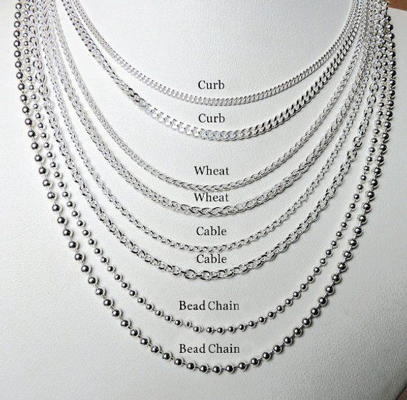 Sterling Silver Chain New Layering Silver Chains Etsy Necklace Types Silver Chain Sterling Silver Chains