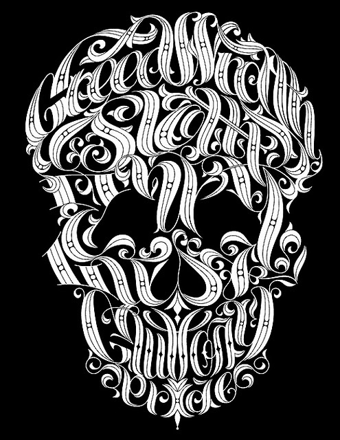 7 deadly sins skull artwork. Would be killer as a tattoo!