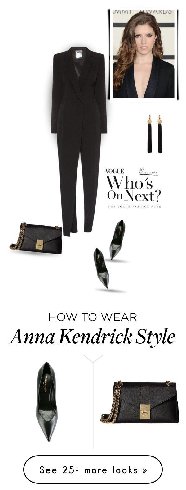 """""""For the love of All Black Outfit"""" by bliznec on Polyvore featuring DKNY, Yves Saint Laurent and Calvin Klein"""