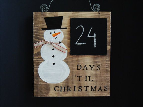 Days Till Christmas, Christmas countdown, Christmas gift, Winter decor, Days until Christmas   7.5in x 6.7in (19cm x 17cm)   Thank you for stopping and checking out my shop!   The perfect decor for December! Exciting waiting time, count the days till Christmas!  This Home decor fits in any kind of home! Make sure you put this sign in a lovely place, let it create a sweet cozy winter atmosphere in your home as you wait for the most wonderful time of the year! ...or you can make somebody you…