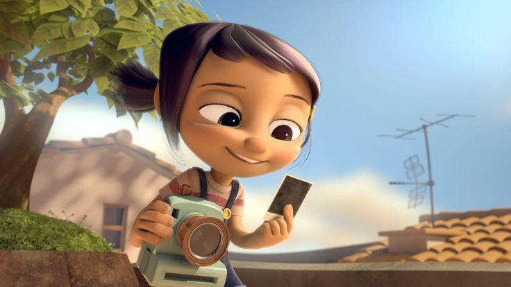 sans paroles Amitié d'une petite fille et de son appareil photo