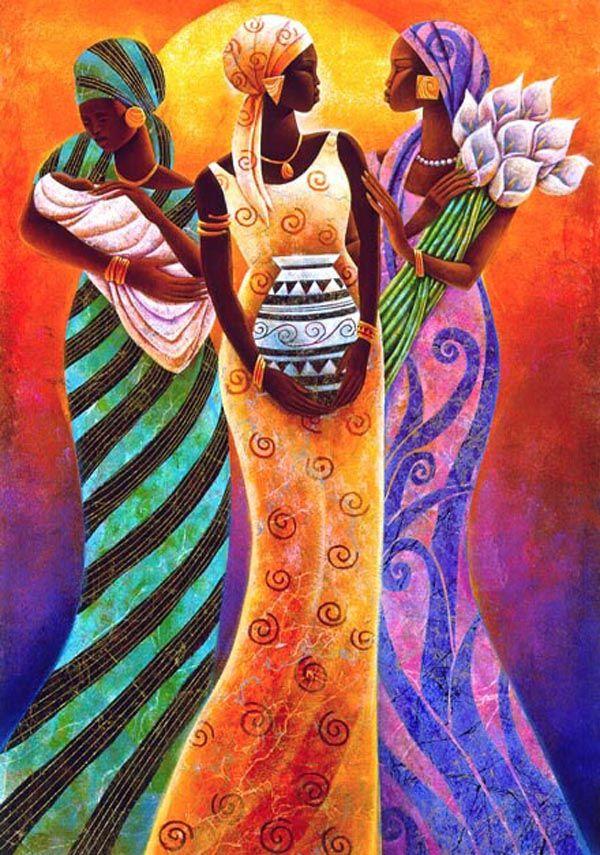 Открытки, африканские картинки нарисованные