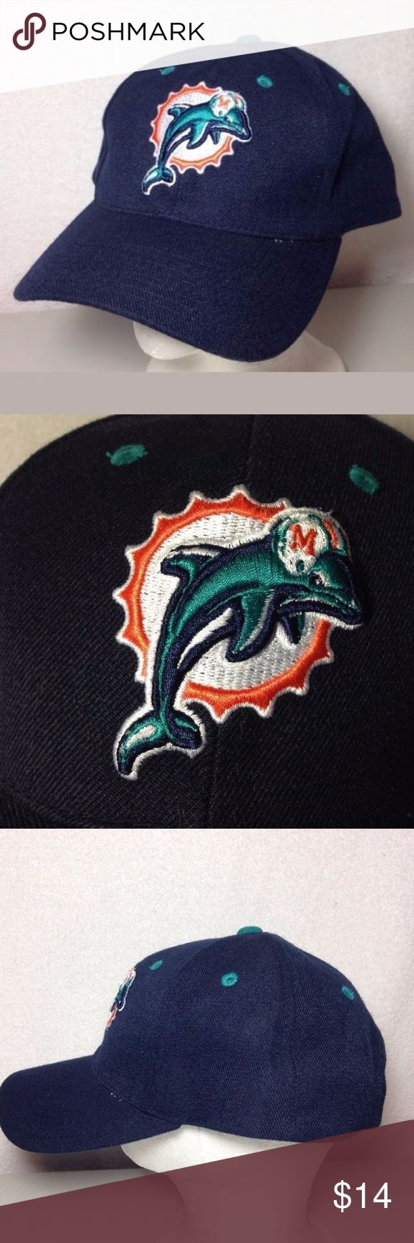 Puma Miami Dolphins Hat Old School Logo Adjustable Great looking hat. Adjustable. Old school Miami Dolphins embroidered logo on front of hat. Made by PUMA and officially licensed by the NFL  Thankyou for viewing. Puma Accessories Hats