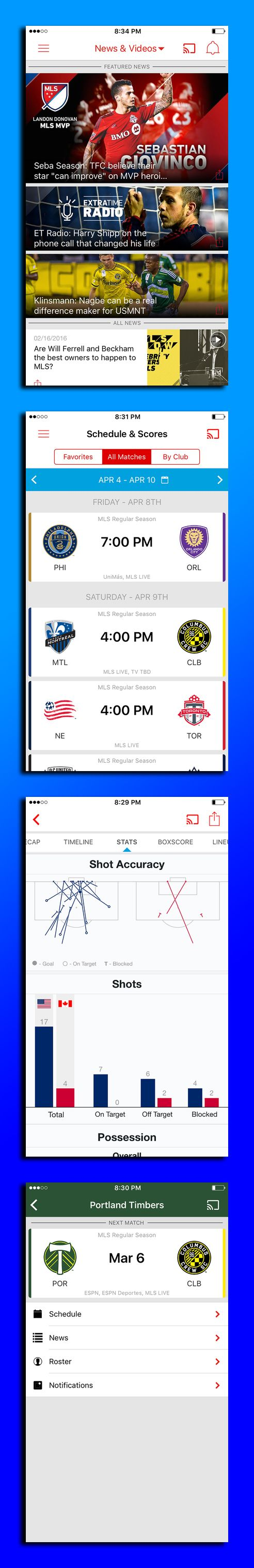 The official app of Major League Soccer keeps you connected with the latest news, highlights, scores, standings, and analysis all for free.