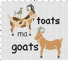 Toats ma Goats - Cross Stitch Pattern - Instant Download by SnarkyArtCompany on Etsy