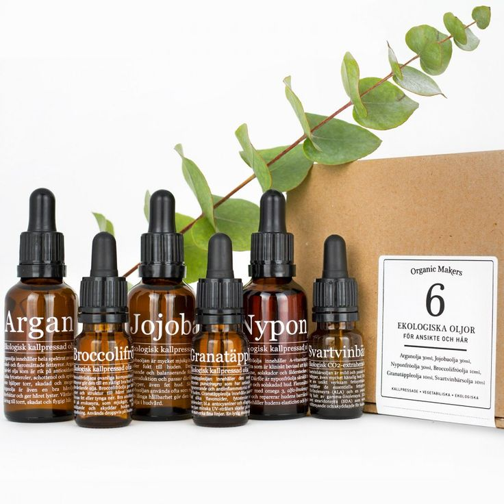 Oljekit; 6 olika oljor för fantastisk ekologisk hudvård - Organic Makers